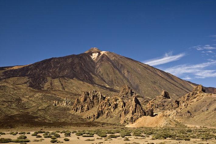 Der Pico del Teide, fotografiert auf dem Rückweg. Welch geniales Licht!