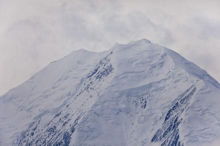"""""""Gipfelportrait"""": Wir hatten perfekte Sicht auf McKinley und die umliegenden Gipfel."""