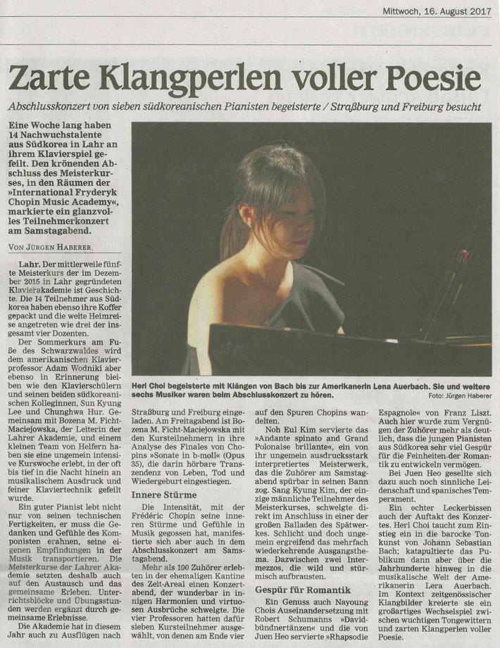 Mittelbadische Presse 16.08.2017