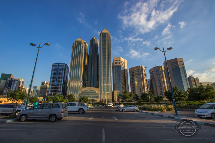 Abu Dhabi Downtown at Sunset
