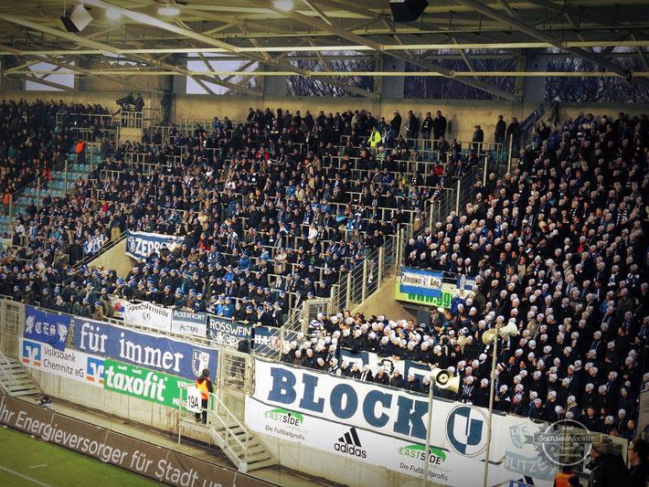 Chemnitzer FC vs. 1.FC Magdeburg - Stadion an der Gellertstraße