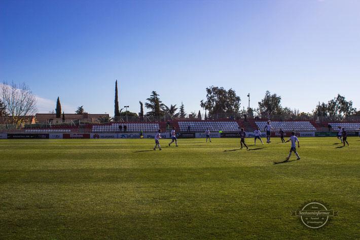 Estadio Cerro del Espino - CF Rayo Majadahonda - Atletico Madrid - Groundhopping - Fussball