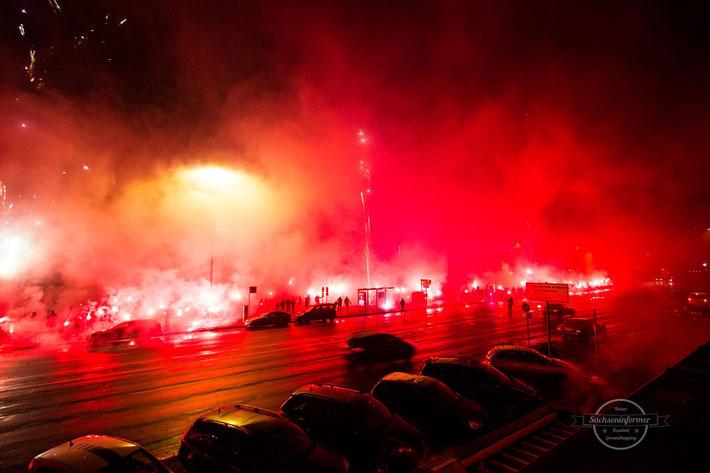 Chemnitzer FC Jubiläum Pyro Ultras Chemnitz