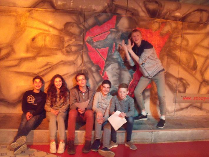 """Le groupe dans le musée """"Story of Berlin"""" qui nous a fait découvrir l'histoire passionnante de Berlin."""