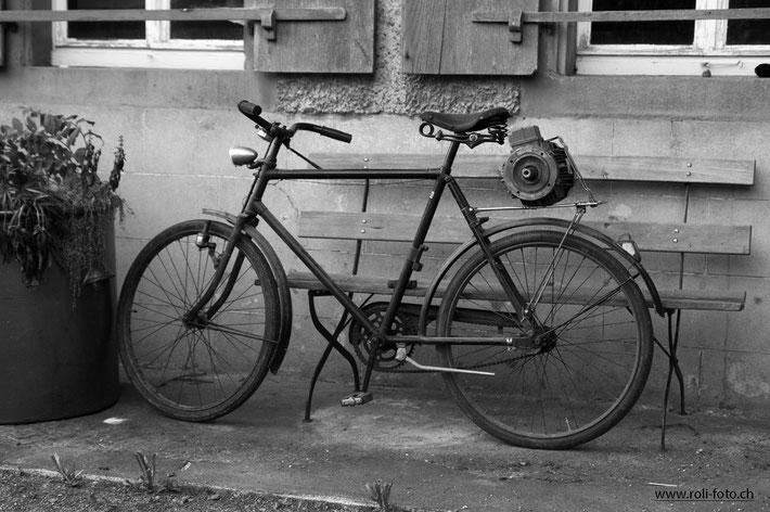 Das Ur-E-Bike, Aufgenommen in Zeiningen