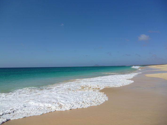 Strand von Santa Maria. Insel Sal. (C) Bubig & Neumann Kreativ-Verlag GbR.