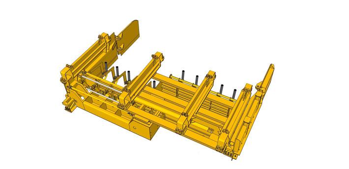 Table pour Béton à plat à largeur variable - Permet de couler en largeur variable des dalles en béton extrudé