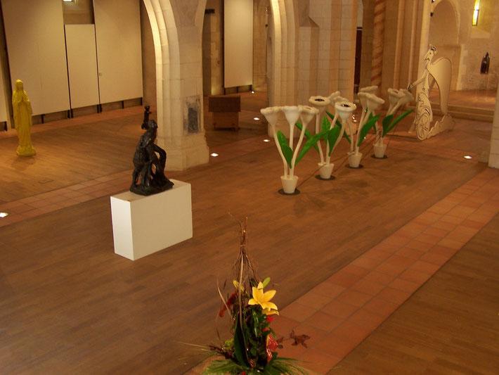 Les Fleurs carnivores d'Alain Séchas (Frac Aquitaine) Vs  Le Milon de Crotone de Pierre Puget (musée des beaux-arts de Bordeaux)