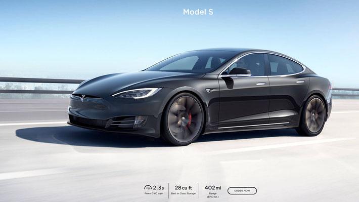 Weit. Weiter. Model S (Bild: tesla.com)