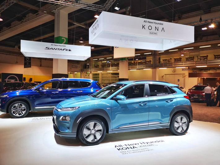 Der Hyuandai Kona electric glänzt mit einer realistischen Reichweite von ca. 400 km