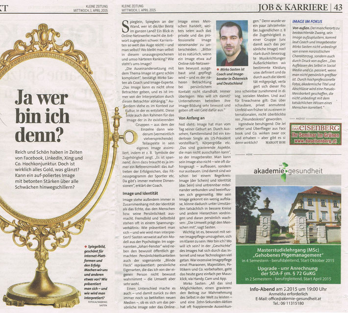 Kleine Zeitung - Beilage Job & Karriere vom 01. 04.2015