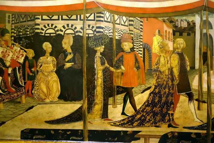 Lo Scheggia, Nuptial Parade or Adimari Cassone, c. 1450-1460, Galleria dell'Accademia, Florence. picture taken by Nina Möller