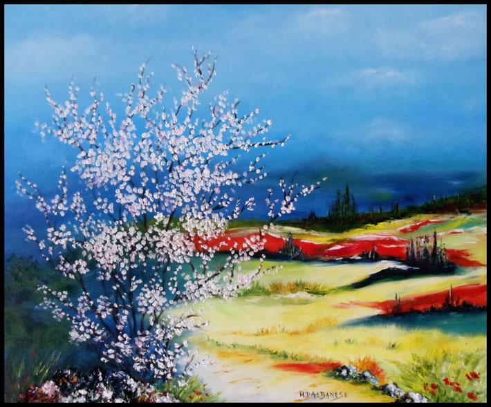tableaux de provence, peinture à l'huile en provence, tableau abstrait provençal, tableau en provence var