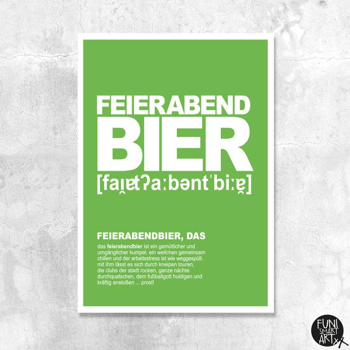"""""""Feierabendbier, das."""" gibt's im FUNI SHOP in Berlin (Mitte)."""