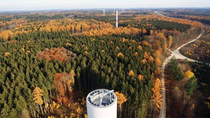 Blick auf den zukünftigen Windpark Jettingen - Scheppach