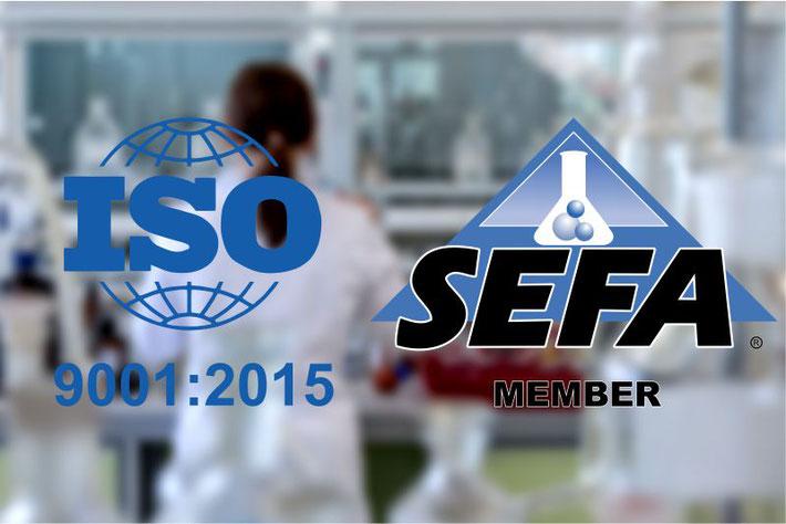Certificación ISO 9001:2015, SEFA, Muebles para laboratorio