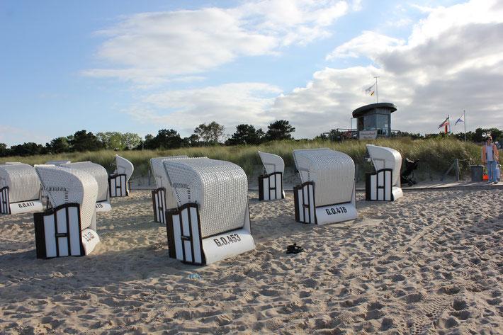 Strandkörbe im Ostseebad Baabe
