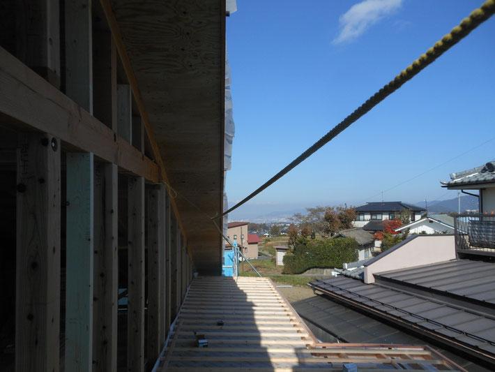 長野県 松本市 建築家 news設計室 丸山和男 建て方 在来工法 設計監理 住宅設計 薪ストーブ 猫と暮らす家