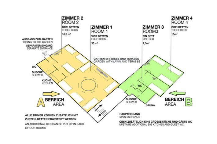Messezimmer Im Geesterfeld Düsseldorf - Zimmeraufteilung