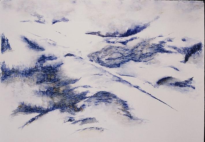"Spring snow, 2004, 40"" x 50"""