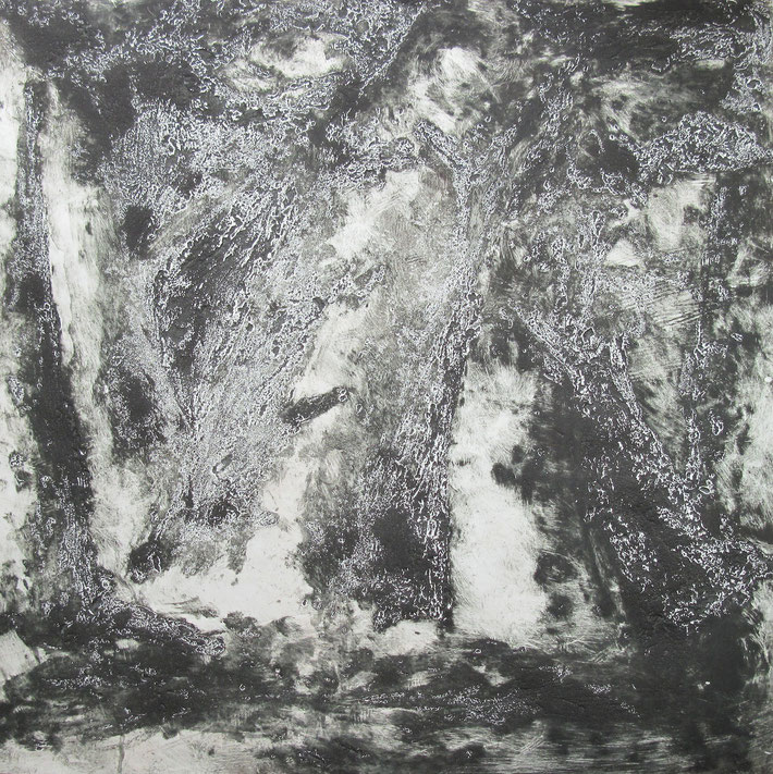 Dream woods 2, 2010, monotype on paper, 25'X 25""