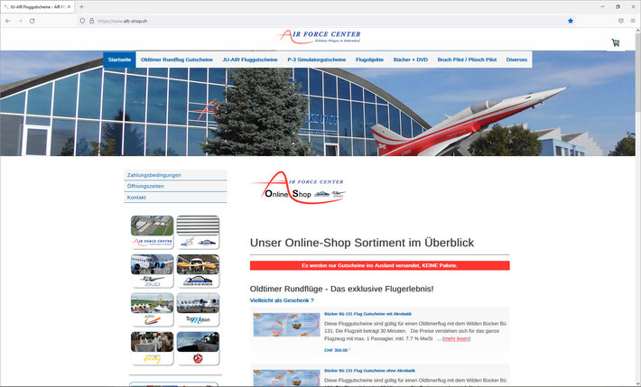 AFC-Shop - Online-Shop vom AIR FORCE CENTER Dübendorf