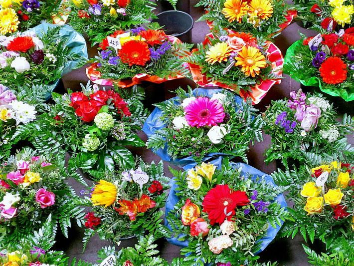 Blumen, bunte Blumen, Floristik, Gerbera