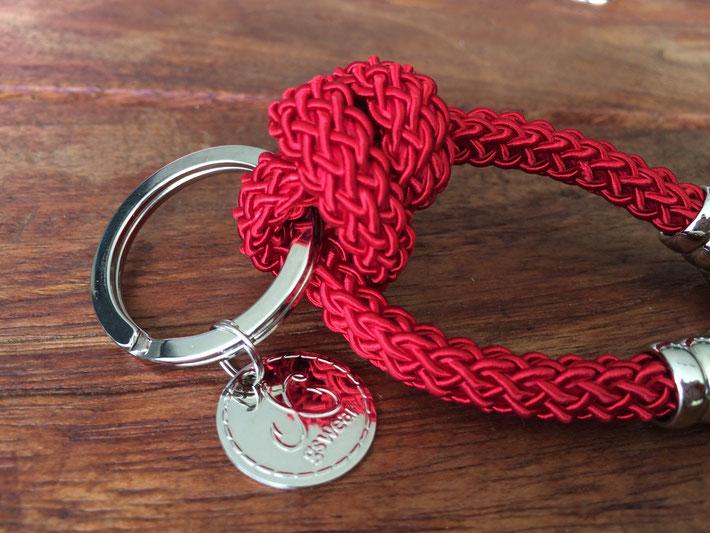 Schlüsselanhänger, Seide aus Italien, segeln Meer