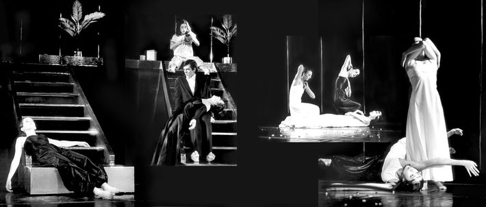 Susanne Linke Ballade Urauffuehrung 1978 Fotomontage Heidemarie Franz
