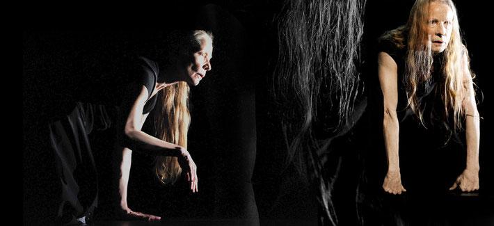 Susanne Linke Kaikou Yin Solo Urauffuehrung 2008 Fotomontage Heidemarie Franz