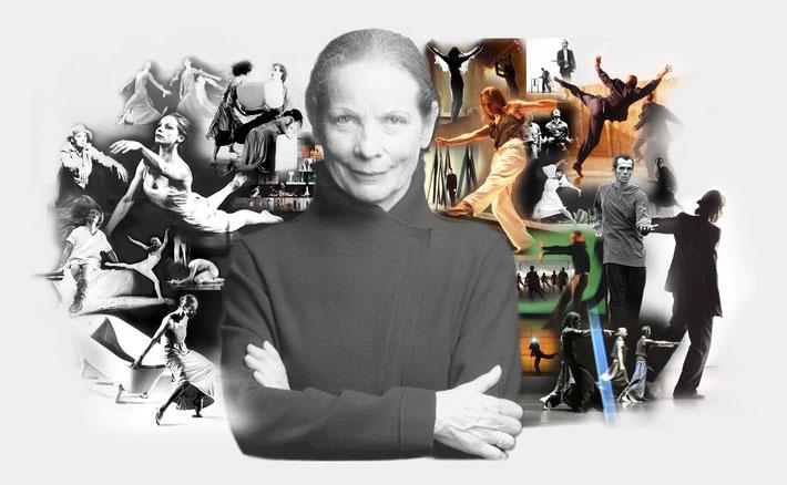 Susanne Linke Choreographien Werkverzeichnis Fotomontage Heidemarie Franz