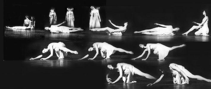 Susanne Linke Arbeiten aus der Fruehphase Der Tod und das Maedchen 1976 Fotomontage Heidemarie Franz