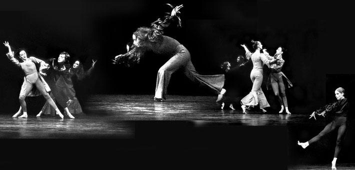 Susanne Linke Arbeiten aus der Fruehphase Habe die Ehre... zum Ball 1973 Fotomontage/Heidemarie Franz
