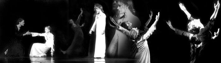 Susanne Linke Danse funebre Wiederaufnahme 1976 Fotomontage Heidemarie Franz