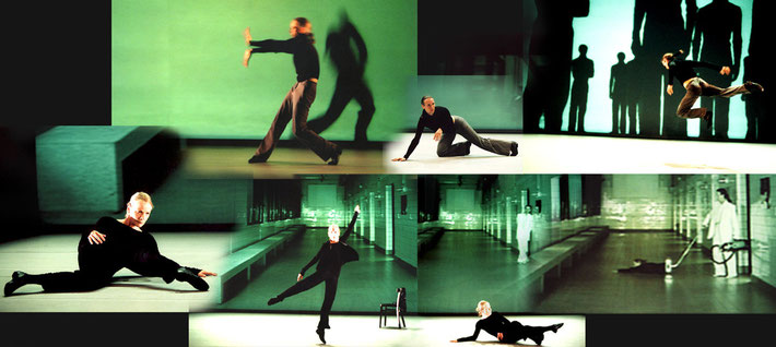 Susanne Linke Urs Dietrich Tanz Dis tanz Urauffuehrung 2001 Fotomontage Heidemarie Franz