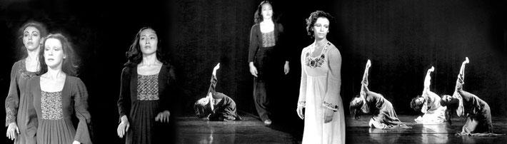 Susanne Linke Danse Funebre Wiederaufnahme 1977 1978 Fotomontage Heidemarie Franz
