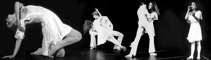 Susanne Linke Arbeiten aus der Fruehphase Puppe 1975 Urauffuehrung Fotomontage Heidemarie Franz