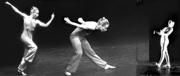 Susanne Linke Arbeiten aus der Fruehphase Ach Unsinn 1977 Fotomontage Heidemarie Franz