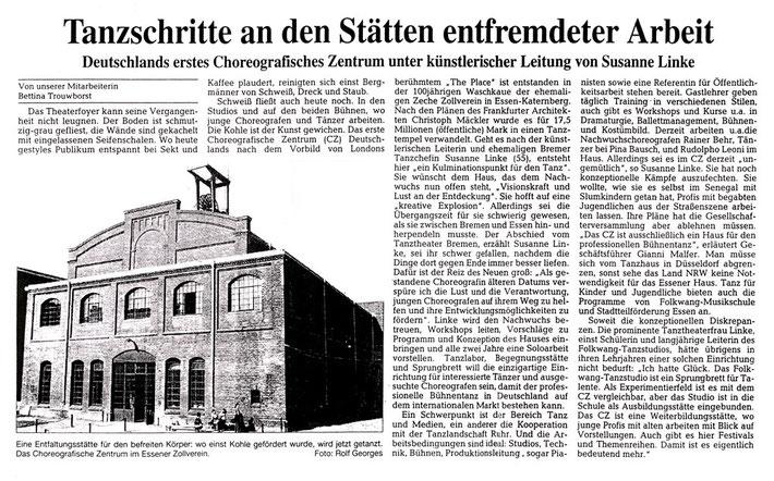 Artikel von Bettina Trouwborst, 23.11.2000