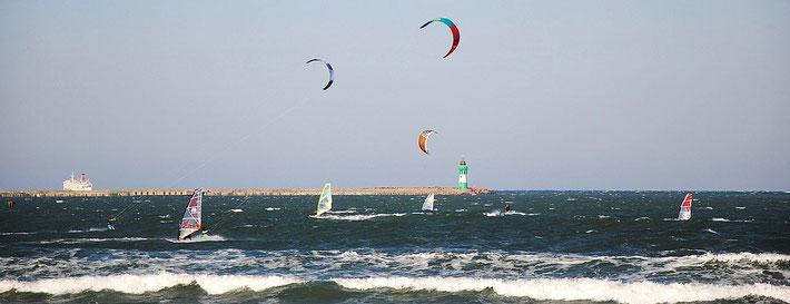 Windsurfen / Strand Mukran-Prora