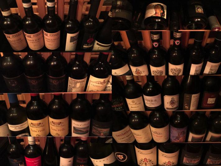 当店のワインコレクション。