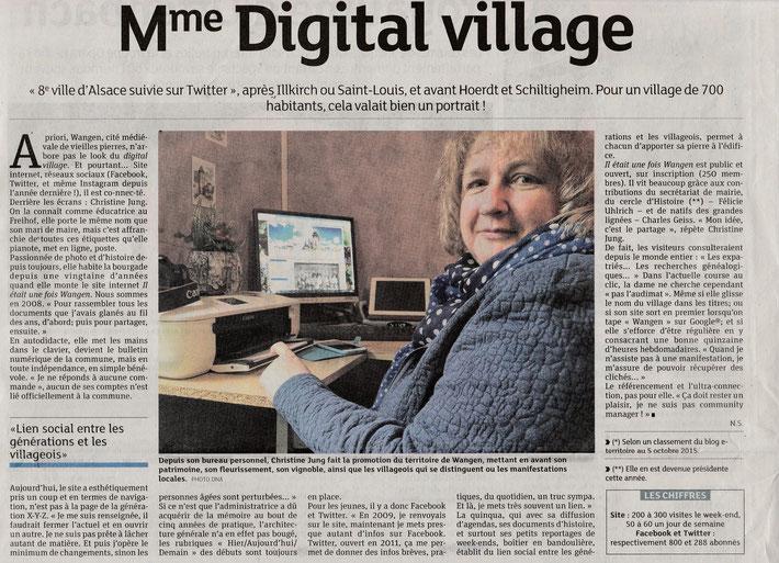 Christine Jung, administratrice du site wangen-village.alsace