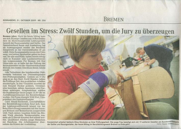 Quelle: Weserkurier, 31.10.2009