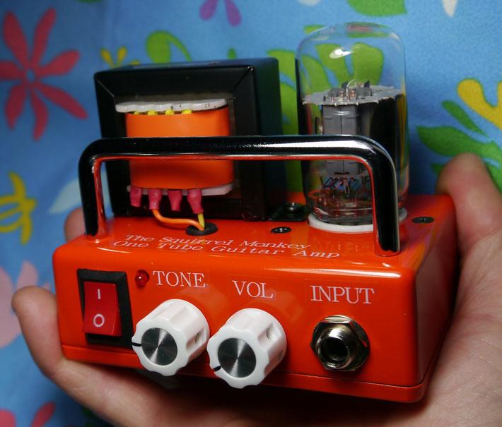手のひらサイズ小型真空管ギターアンプ自作 DIY Palm-sized vacuum Tube Guitar Amplifier Head (100mm×70mm)