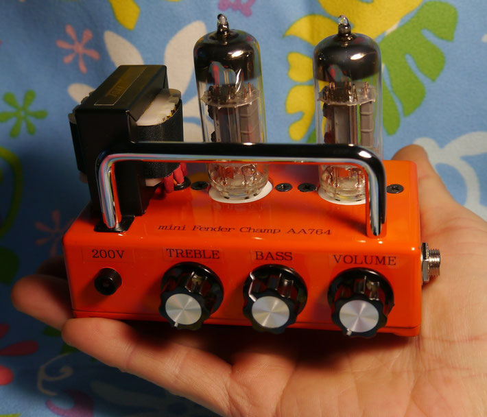 小型真空管ギターアンプヘッド自作 mini Fender Champ AA764 full tube guitar amplifier head