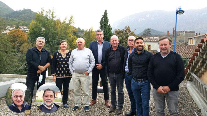 Membres du Bureau de la Communauté de Communes des Pyrénées Audoises