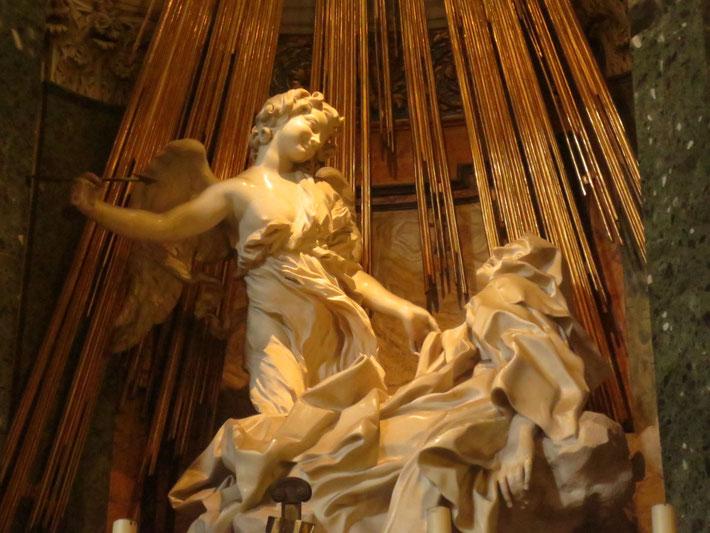 Gian Lornezo Bernini, Die Verzückung der hl. Theresa, Santa Maria della Vittoria (Cornaro Kapelle)