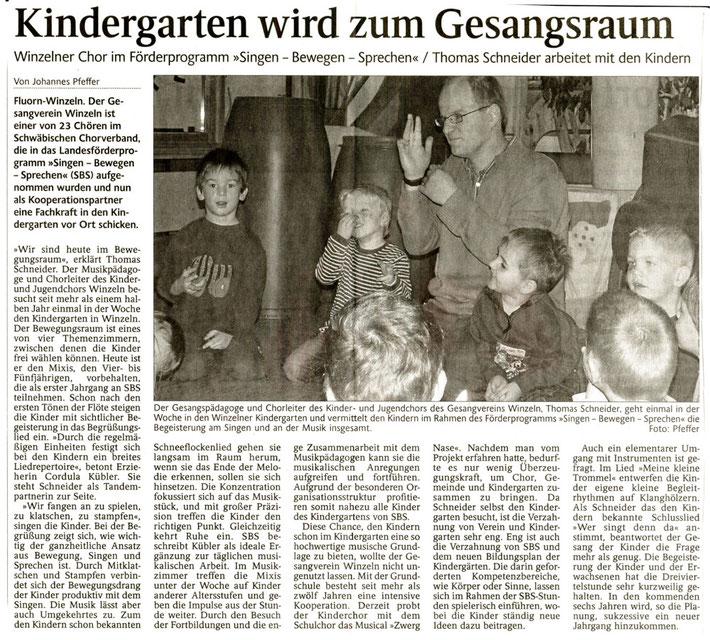 """""""SINGEN-BEWEGEN-SPRECHEN""""  - aktives Förderprogramm im Kindergarten mit sichtlicher Begeisterung"""