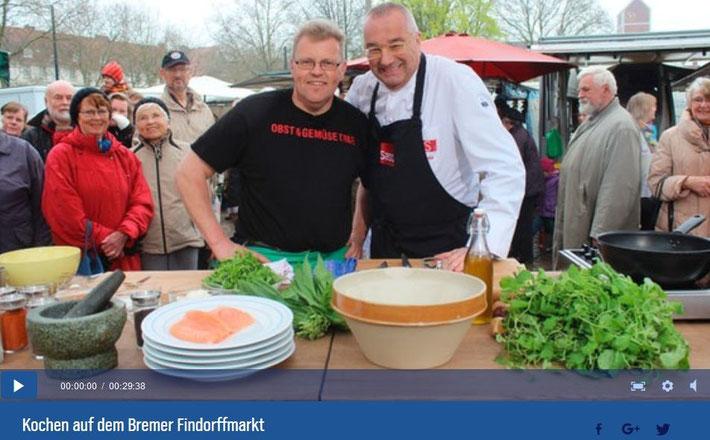 NDR Koch auf dem Findorffmarkt -anklicken, um Video zu starten