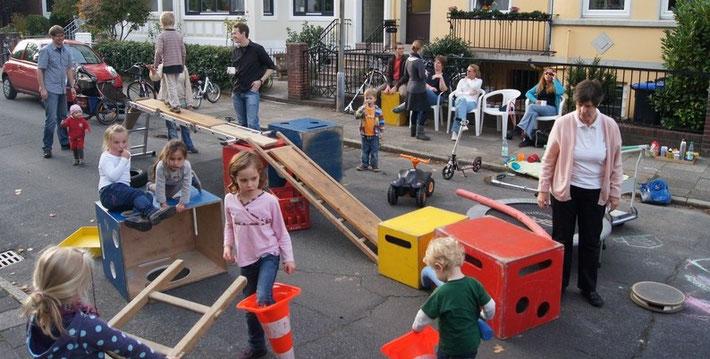 In Findorff gibt es wenig Spielflächen, Spielstraßen können Abhilfe schaffen.